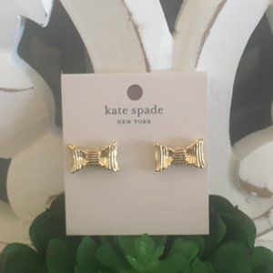 All wrapped up bow stud earrings Kate Spade